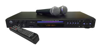 Karaoke compatible player with two microphone channels for Hire in Kent